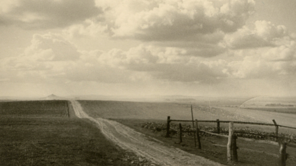 Road to the Desenberg, North Hesse, Germany, 19 March 1941. RPPC from the archive of Heddy Esche.
