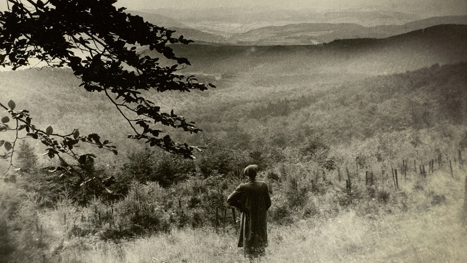 Jürgen von der Wense in the Kaufungen Forest, North Hesse, Germany, circa 1953. Photograph from the archive of Heddy Esche.